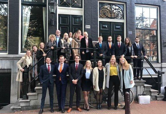 Juridische Faculteitsvereniging Groningen op bezoek bij Clairfort Amsterdam voor workshop intellectueel eigendom