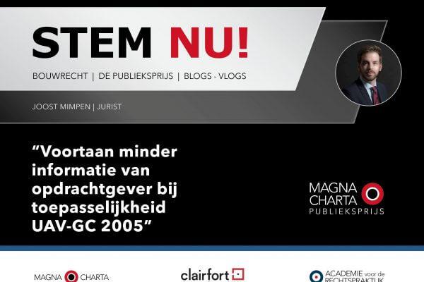 Stemronde geopend! Blog Joost Mimpen genomineerd voor Publieksprijs Magna Charta