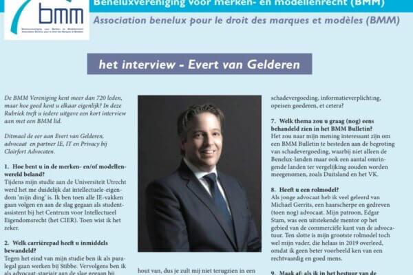 Interview Evert van Gelderen in het BMM Bulletin